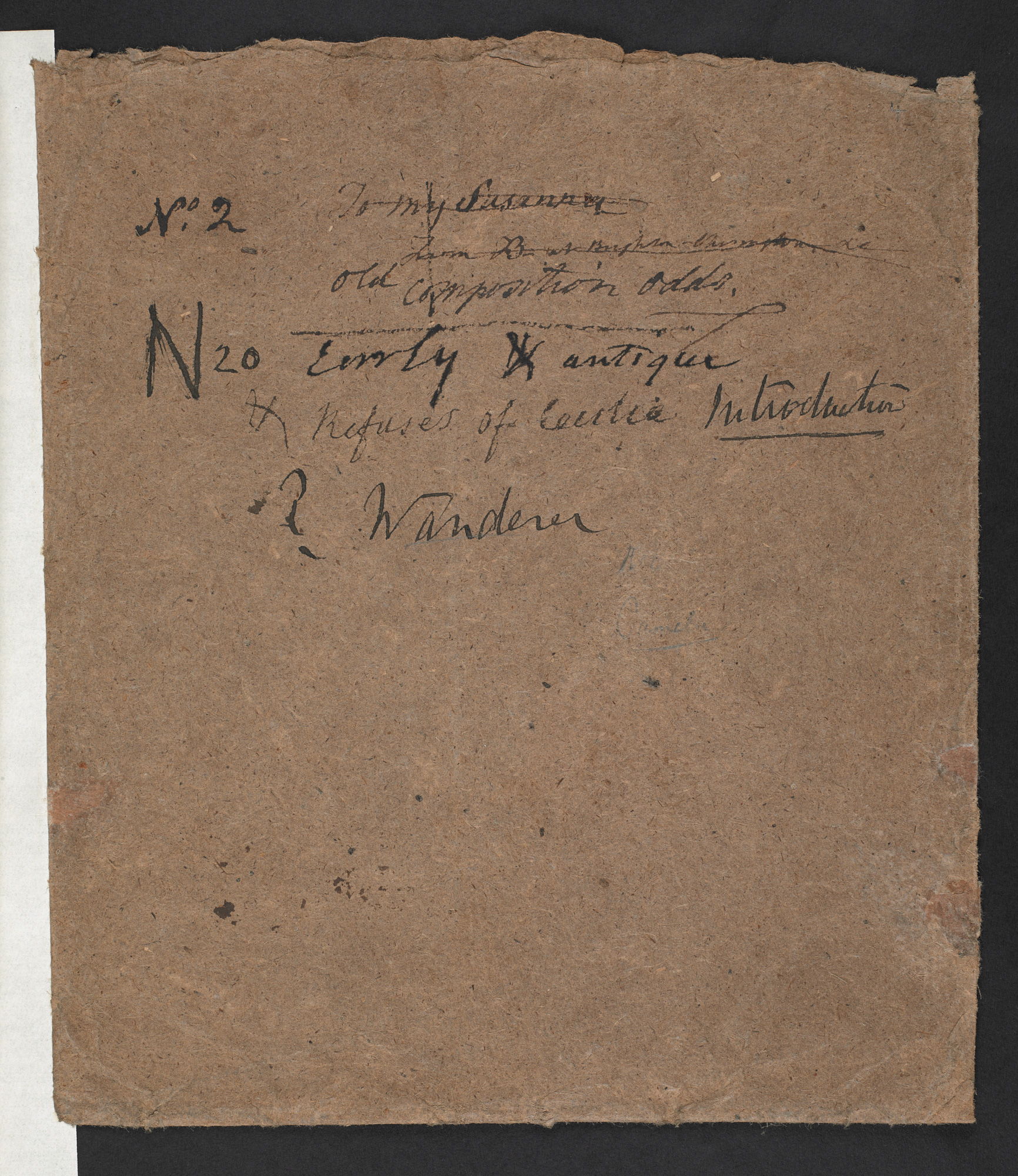Manuscript copies of poems from Evelina and contemporary reviews of the novel