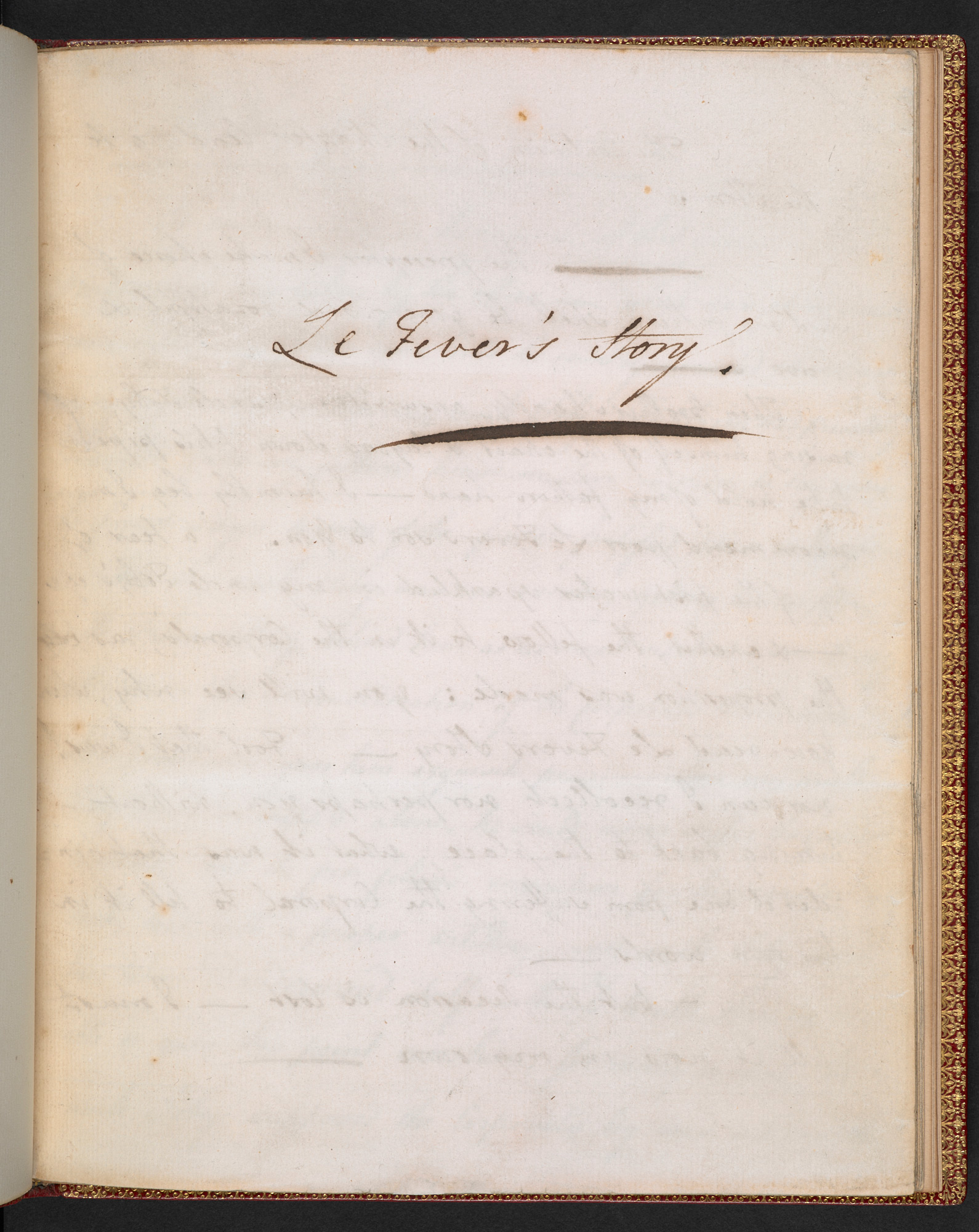 Manuscript of 'Le Fever's story' from Laurence Sterne's Tristram Shandy