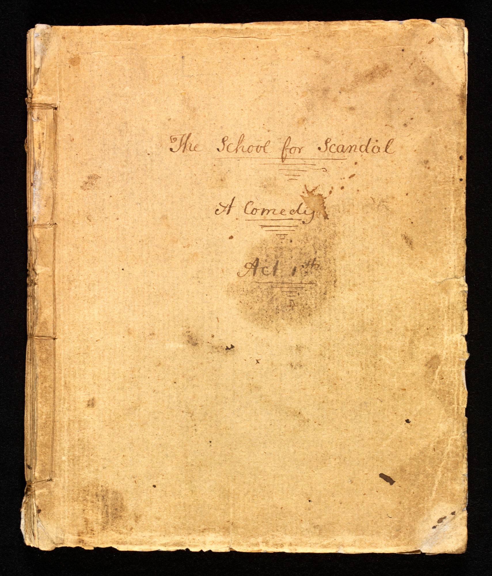 Manuscript of The School for Scandal with revisions by Sheridan
