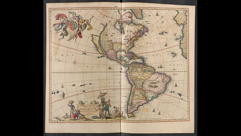 Maps of The Americas, c. 1687