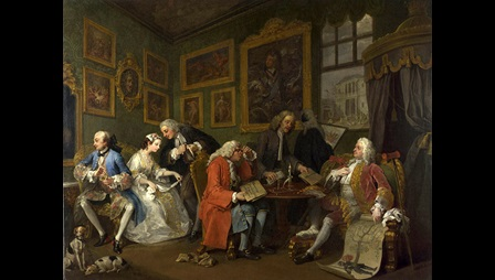 Marriage A-la-Mode The Settlement by Hogarth