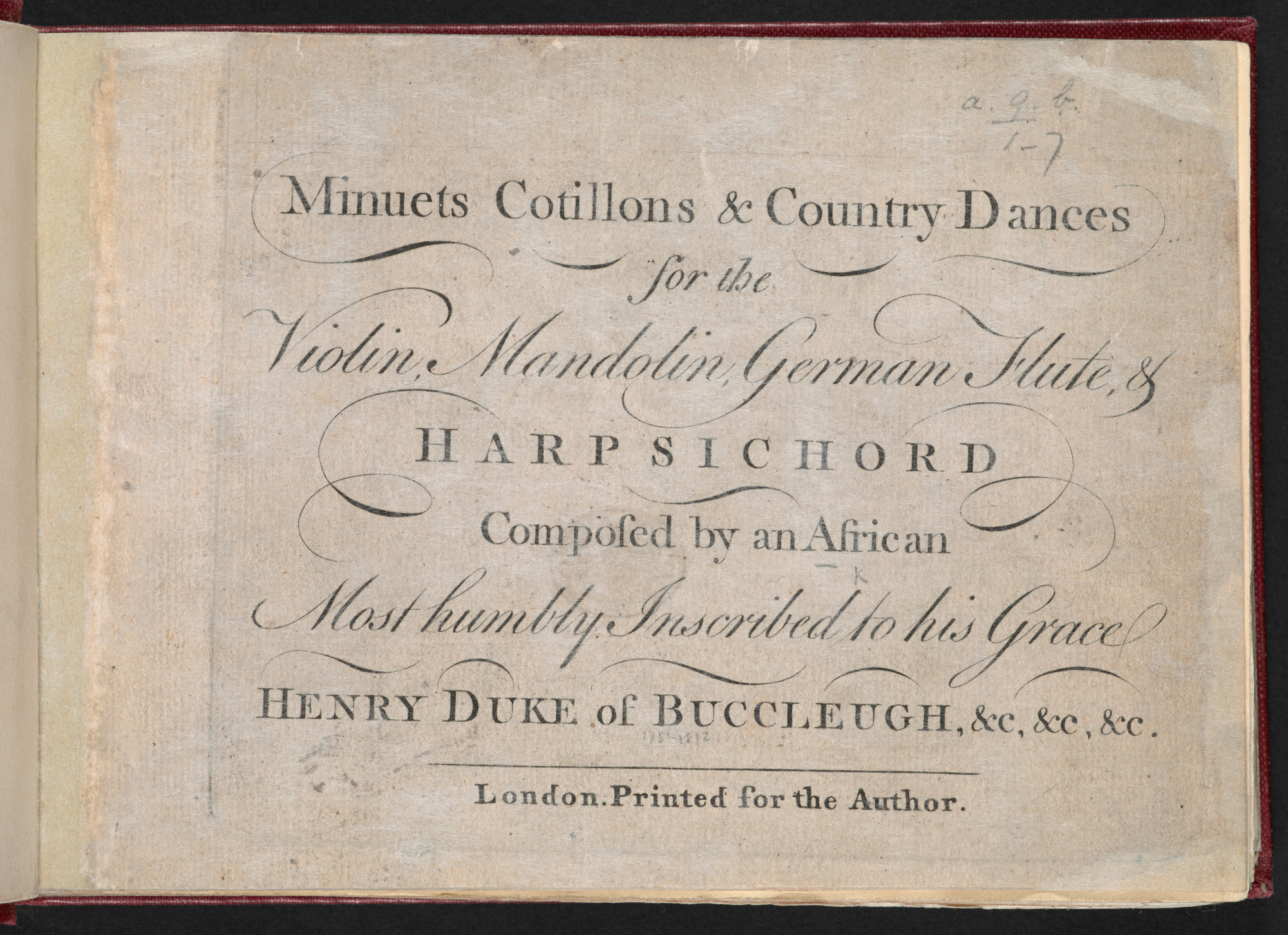 Minuets, Cotillons and Country Dances by Ignatius Sancho