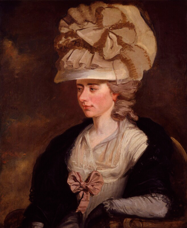 Portrait of Frances Burney by Edward Francisco Burney, c 1784-1785