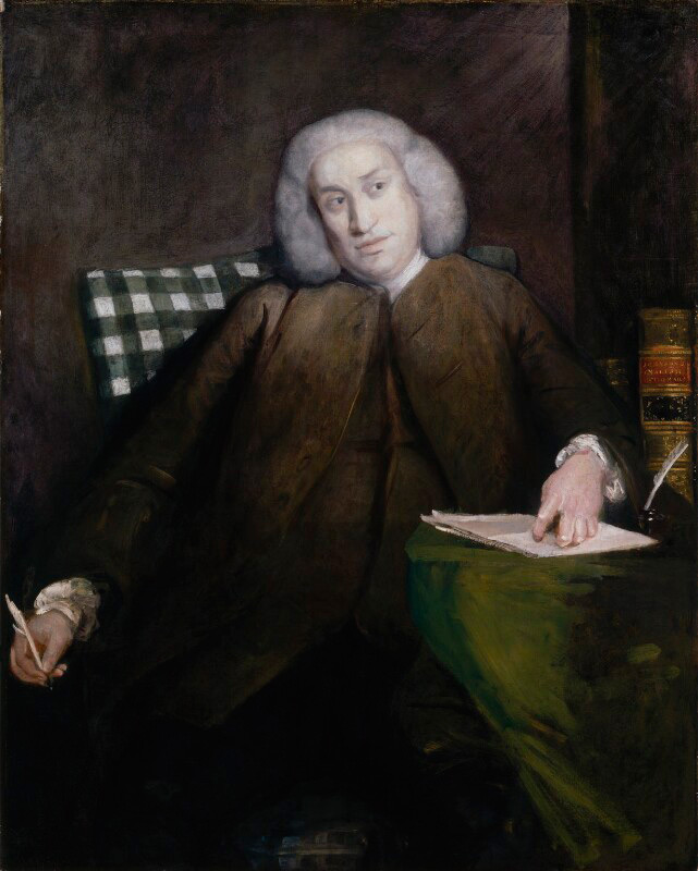Portrait of Samuel Johnson by Joshua Reynolds