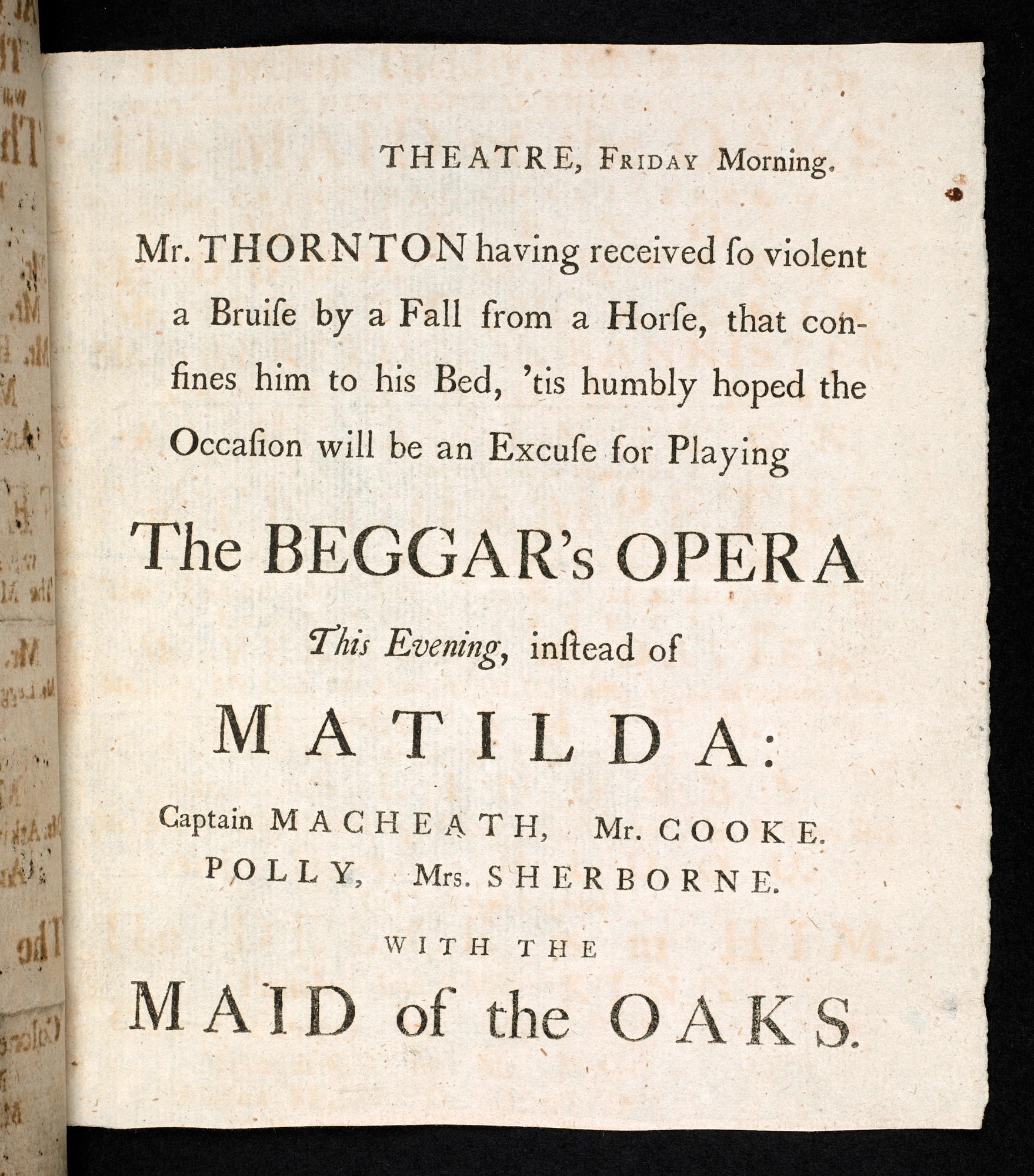 An introduction to 18th-century British theatre - The