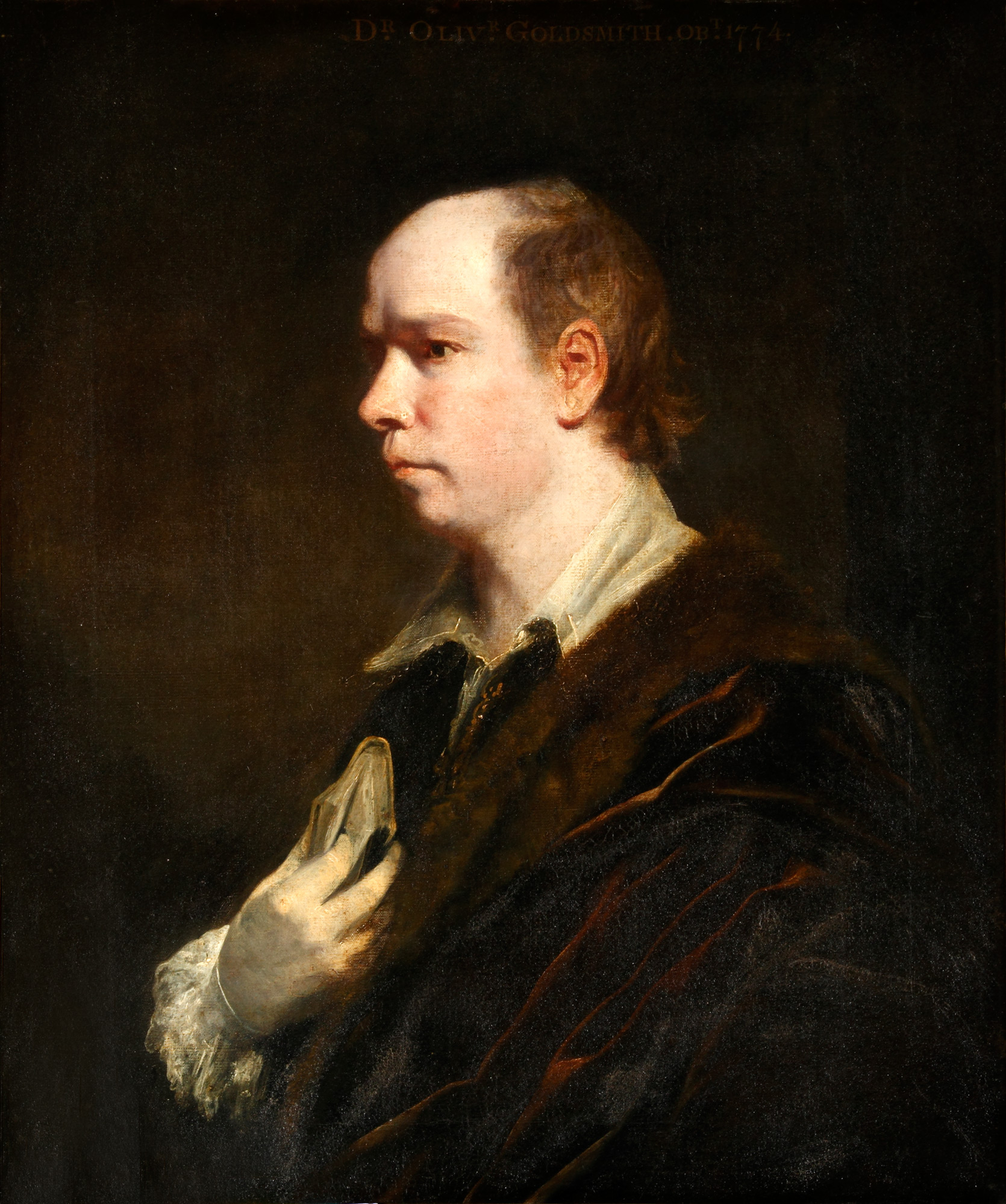 Portrait of Oliver Goldsmith by Joshua Reynolds