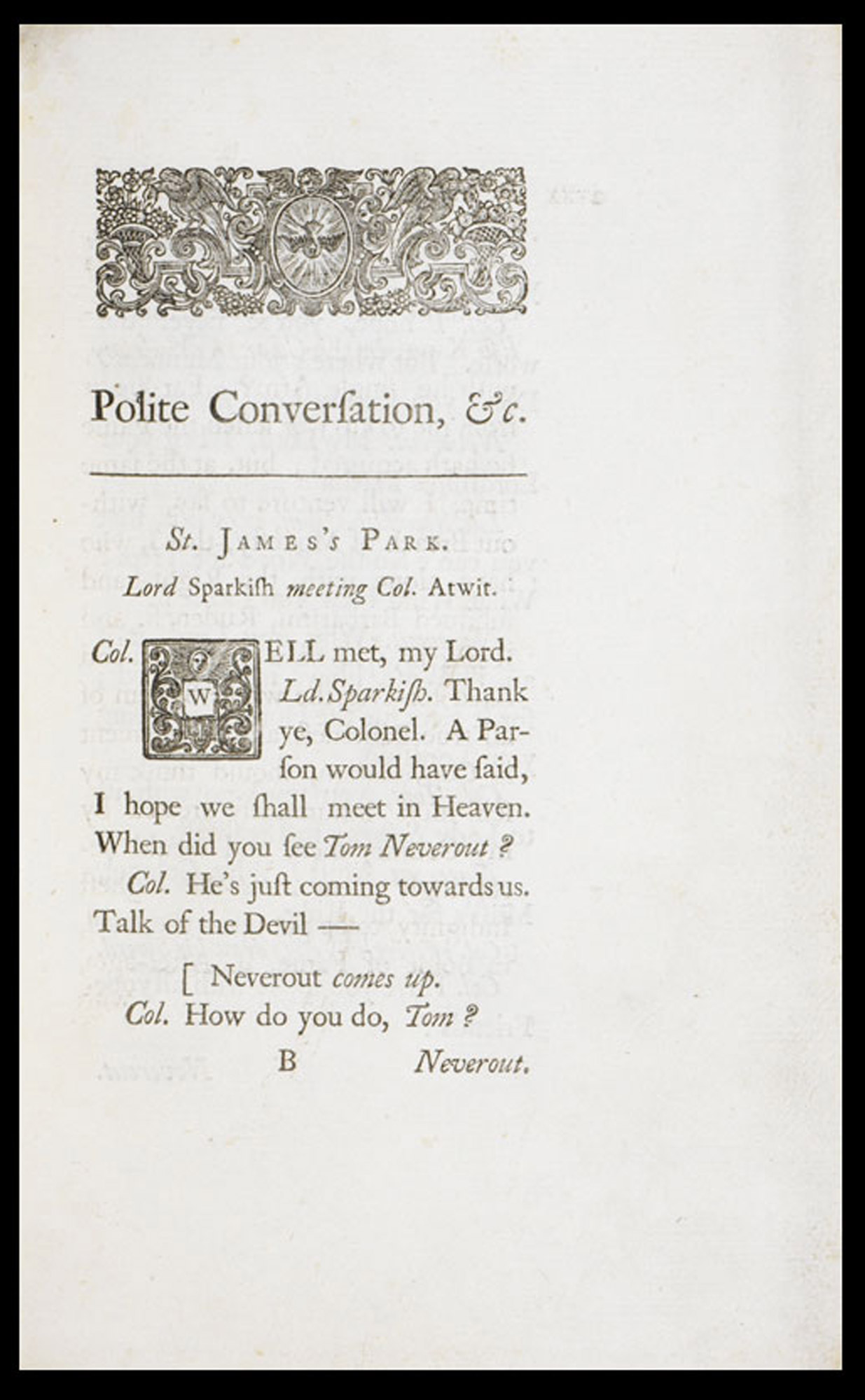 Jonathan Swift's Polite conversation