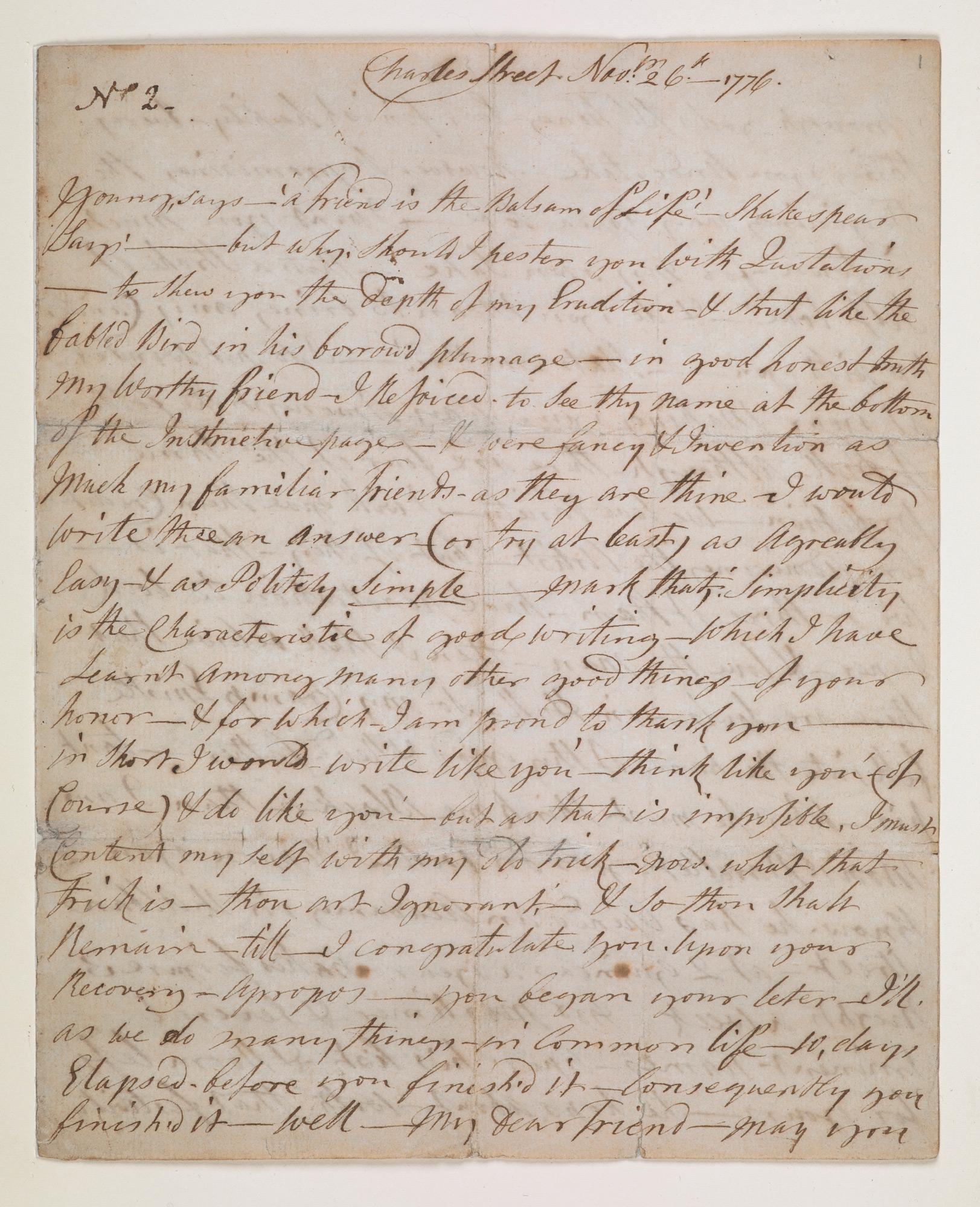 The only surviving manuscript letters of Ignatius Sancho