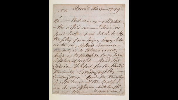 Handwritten letter from Ignatius Sancho, dated April 1779