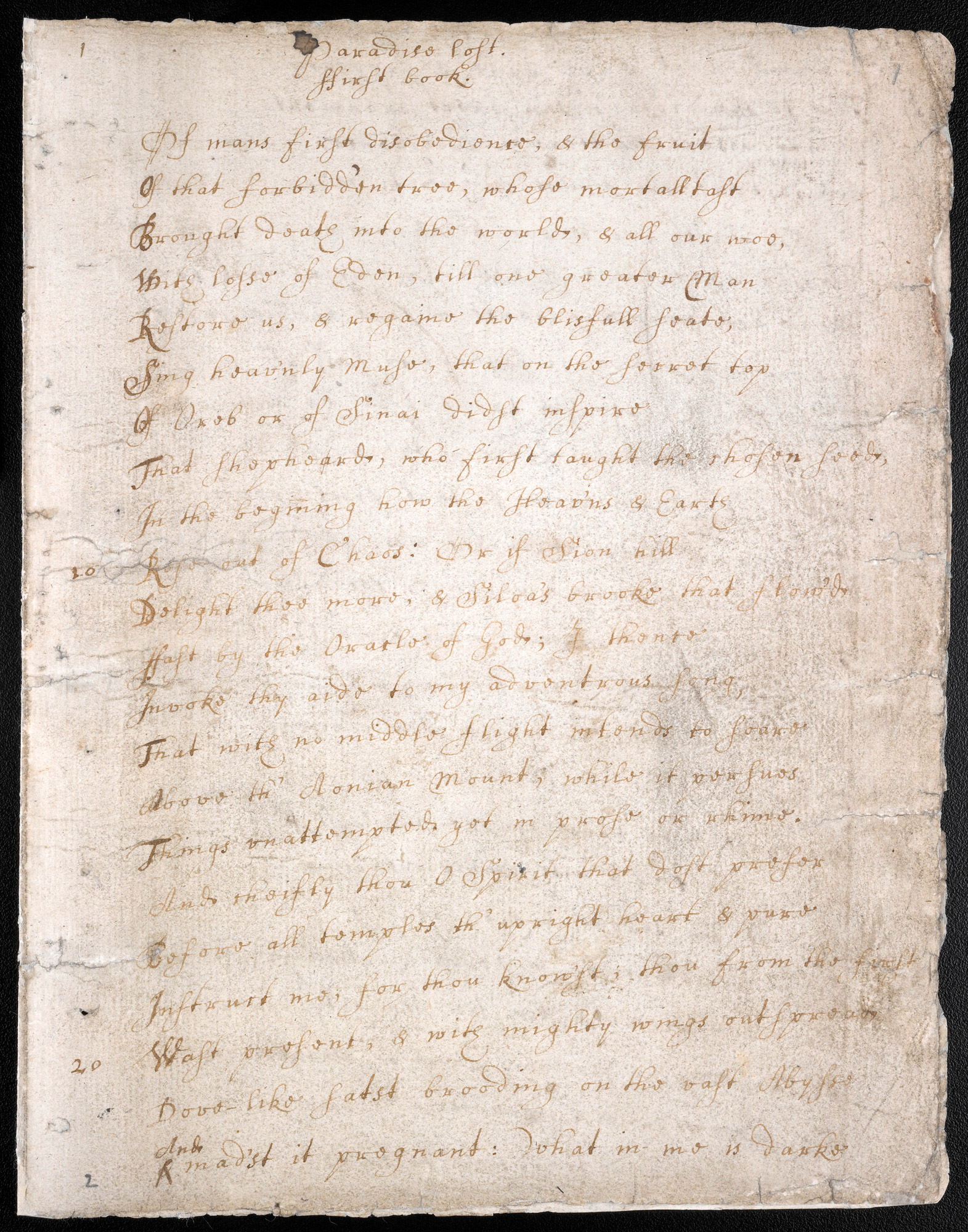 John Milton The British Library