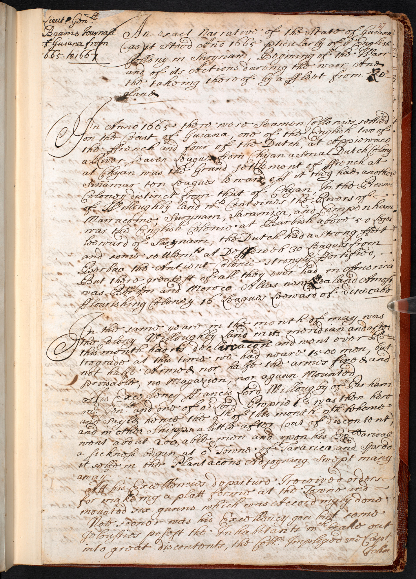 William Byam's Colonial Diary, and a Brief Description of the Guianas
