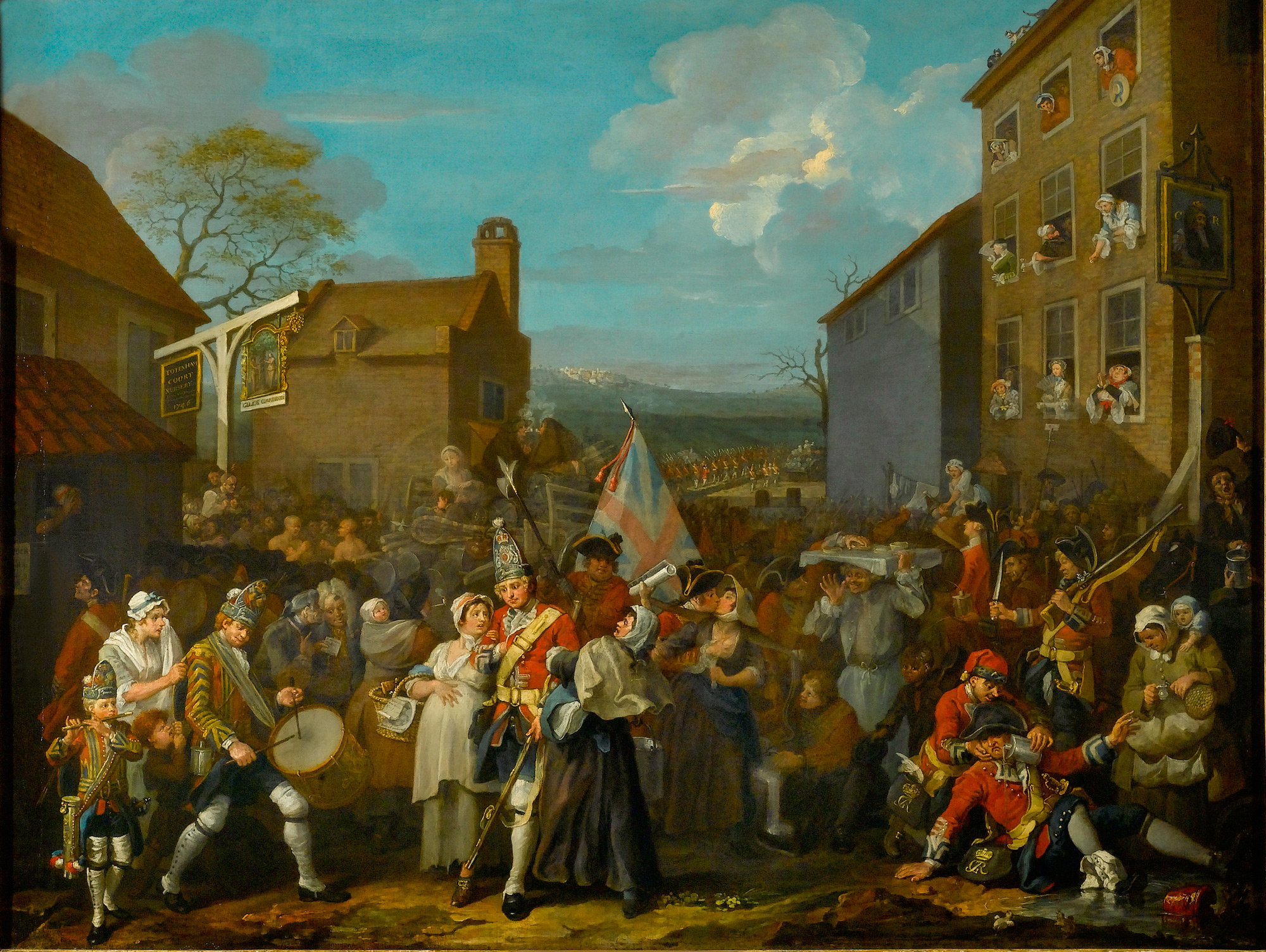 The March of the Guards to Finchley by William Hogarth, 1750