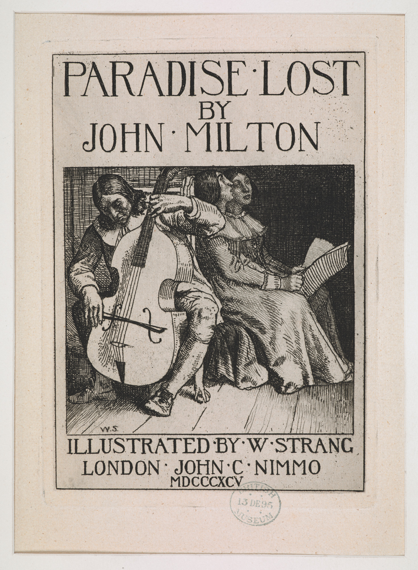 William Strang's illustrations for Paradise Lost, 1896