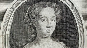 Crop of a portrait of playwright Aphra Behn