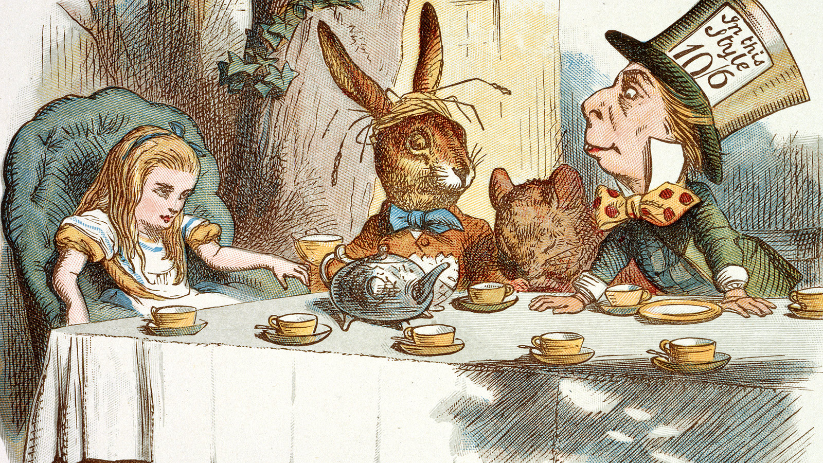 Eating and drinking in Alice's Adventures in Wonderland