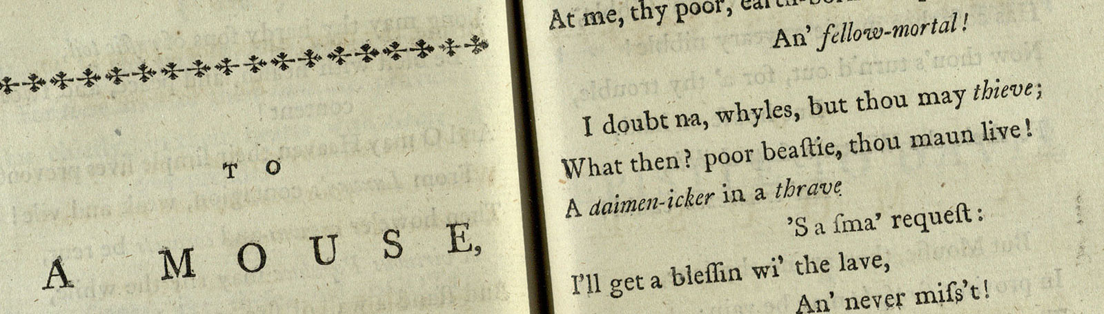 Robert Burns: a career in verse