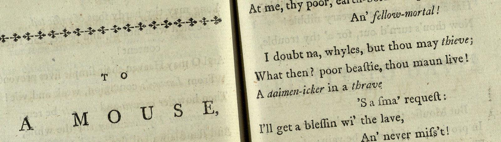 Robert Burns: a career in verse