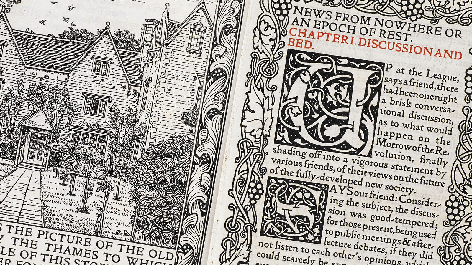From socialist news to fine art printing: William Morris's News from Nowhere
