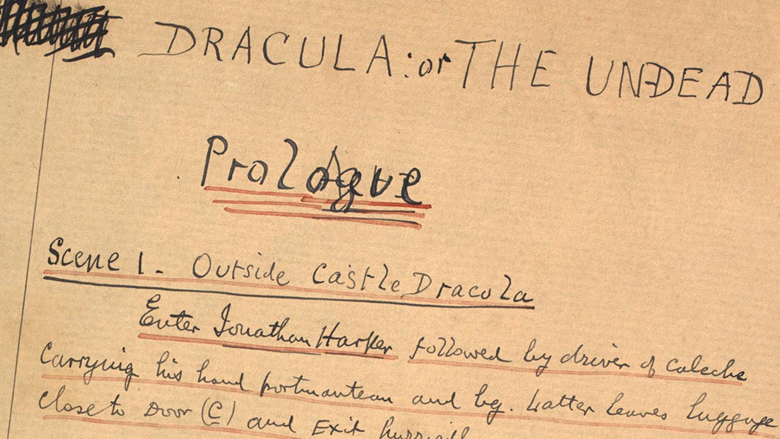 Bram Stoker's stage adaptation of Dracula
