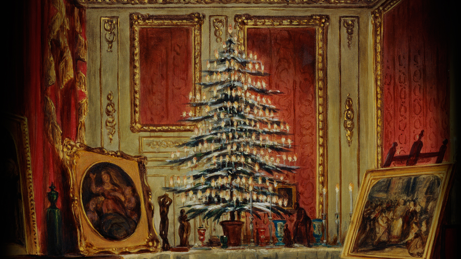 Queen Victoria's Christmas tree painting cropped