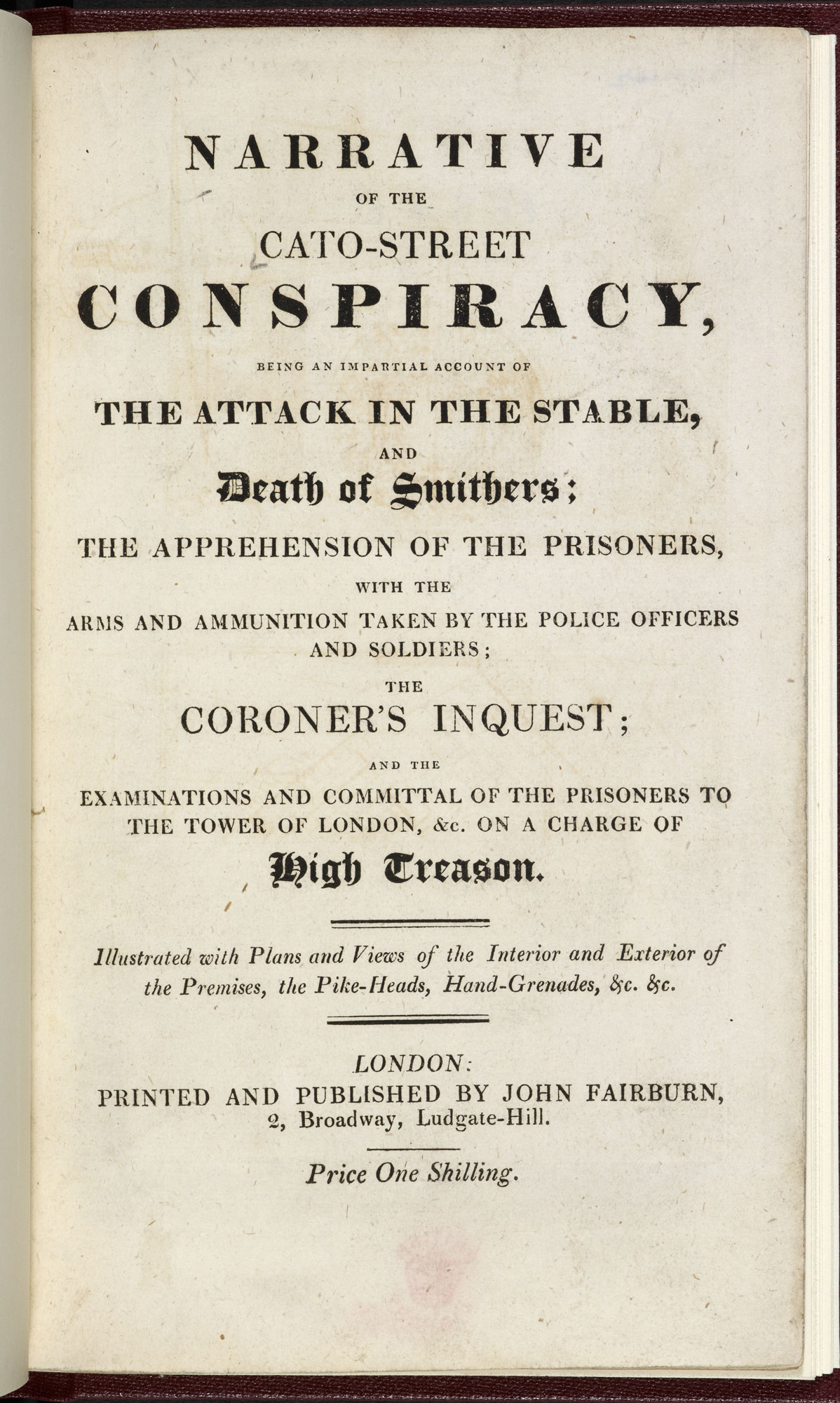 Narrative of the Cato-Street Conspiracy [page: title page]