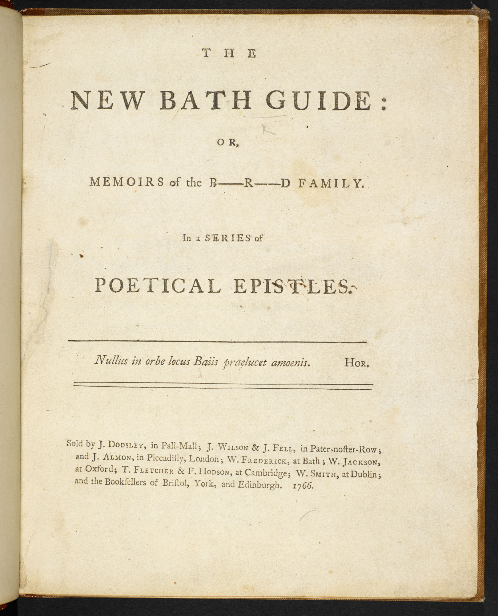 Satire of Bath society [page: title page]