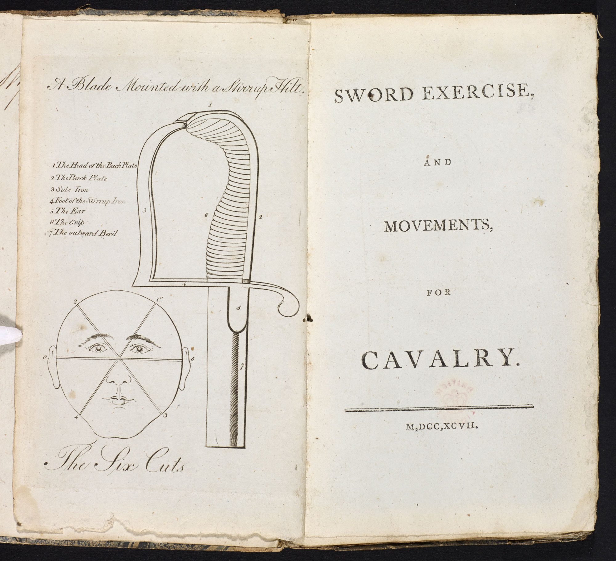 Sword exercise, and movements, for cavalry [page: frontispiece and title page]
