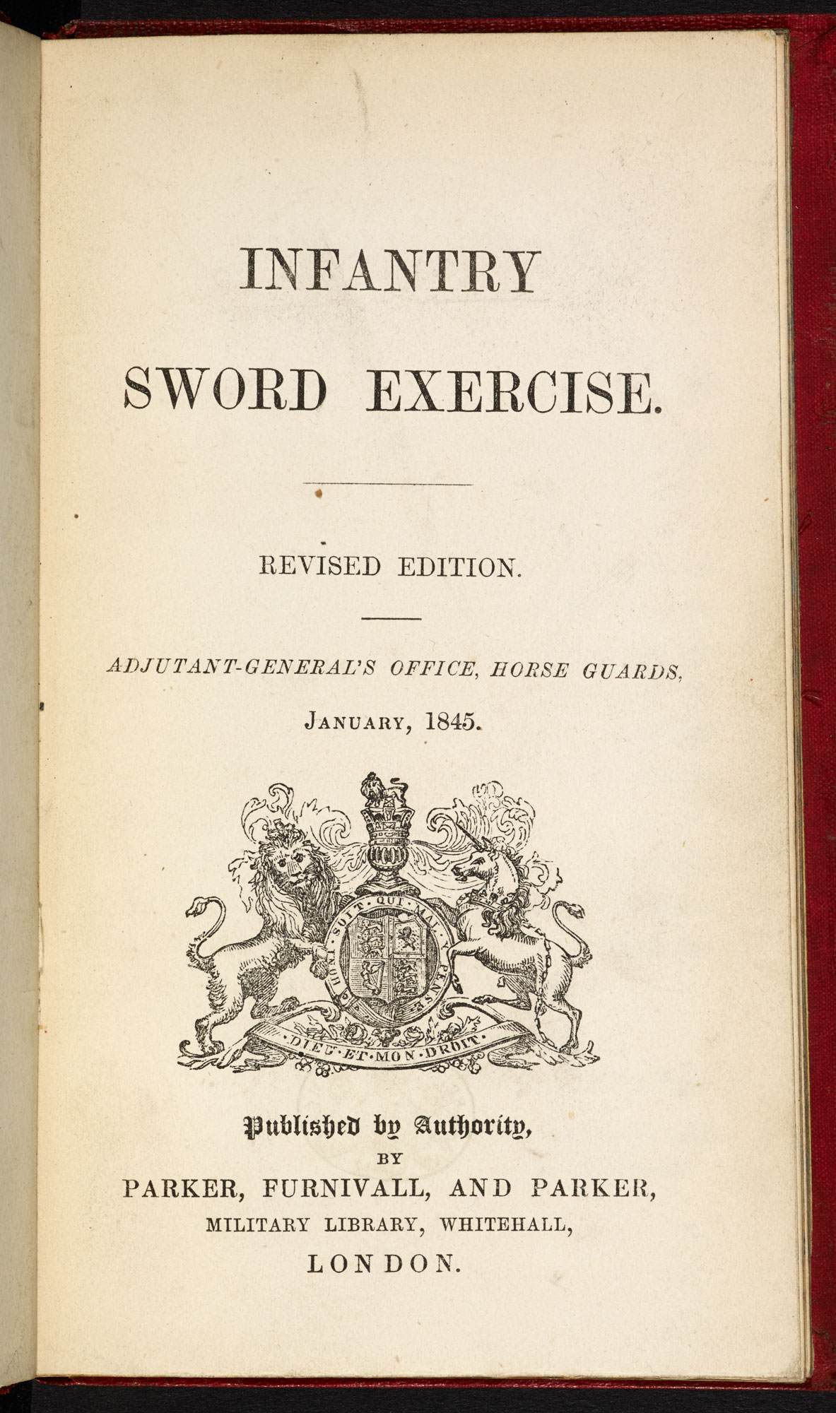 Sword Exercises [page: frontispiece and title page]