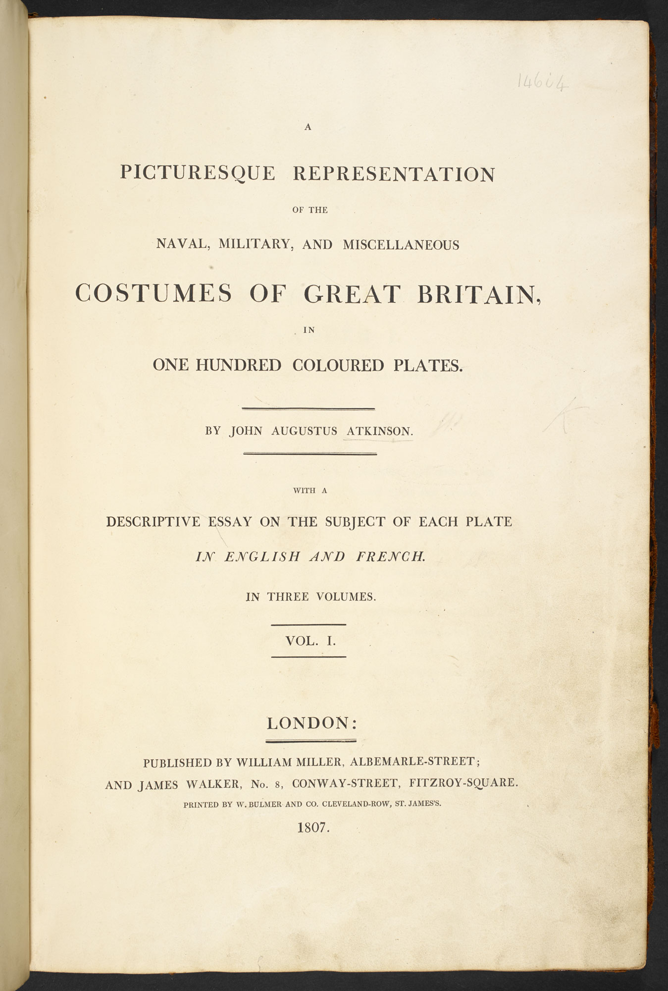 Costumes of the Navy, Army and other occupations [page: title page]