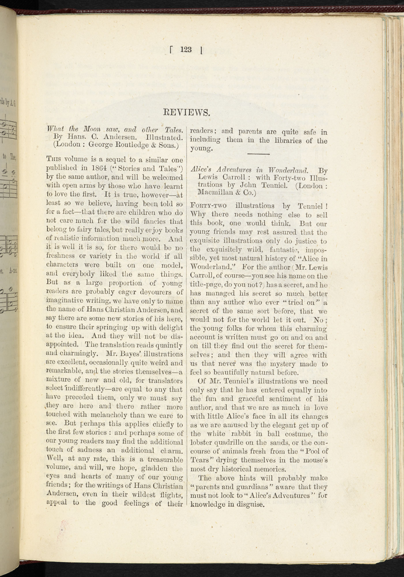 Review of Alice's Adventure's in Wonderland [page: 123]