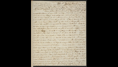 Handwritten letter from Jane Austen to her sister Cassandra, 25 April 1811