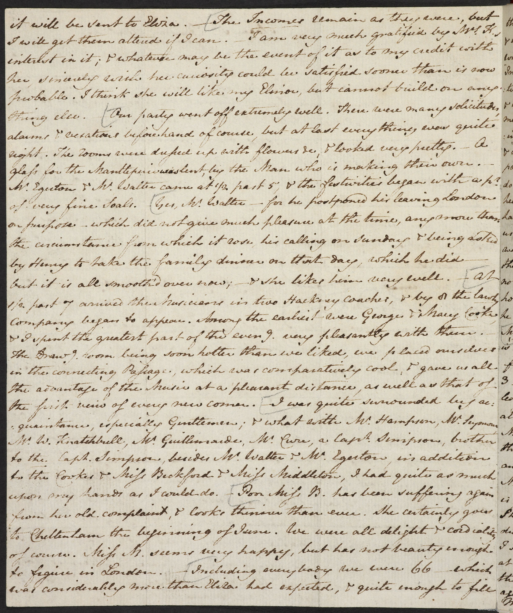 Letter from Jane Austen to her sister Cassandra, 25 April 1811 [folio: f. 7v]