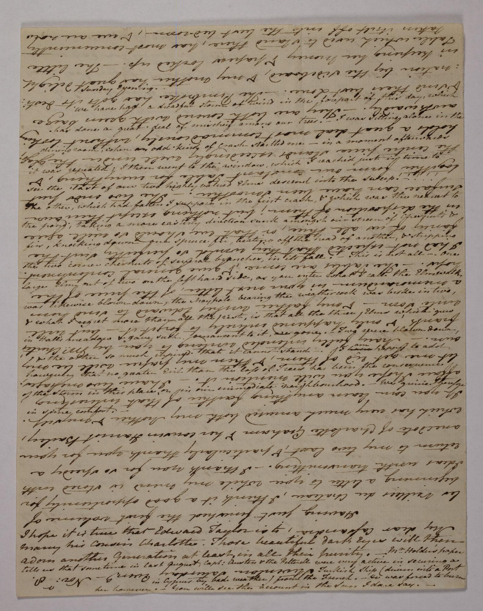 Letter From Jane Austen To Her Sister Cassandra 8 9 November 1800