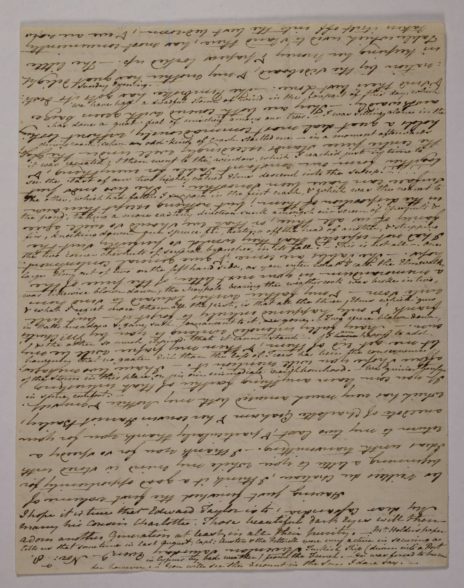 Letter from Jane Austen to her sister Cassandra, 1800 [folio: 0]