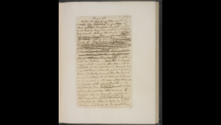 Manuscript of chapters 10 and 11 from Jane Austen's Persuasion [folio: f. 1r]