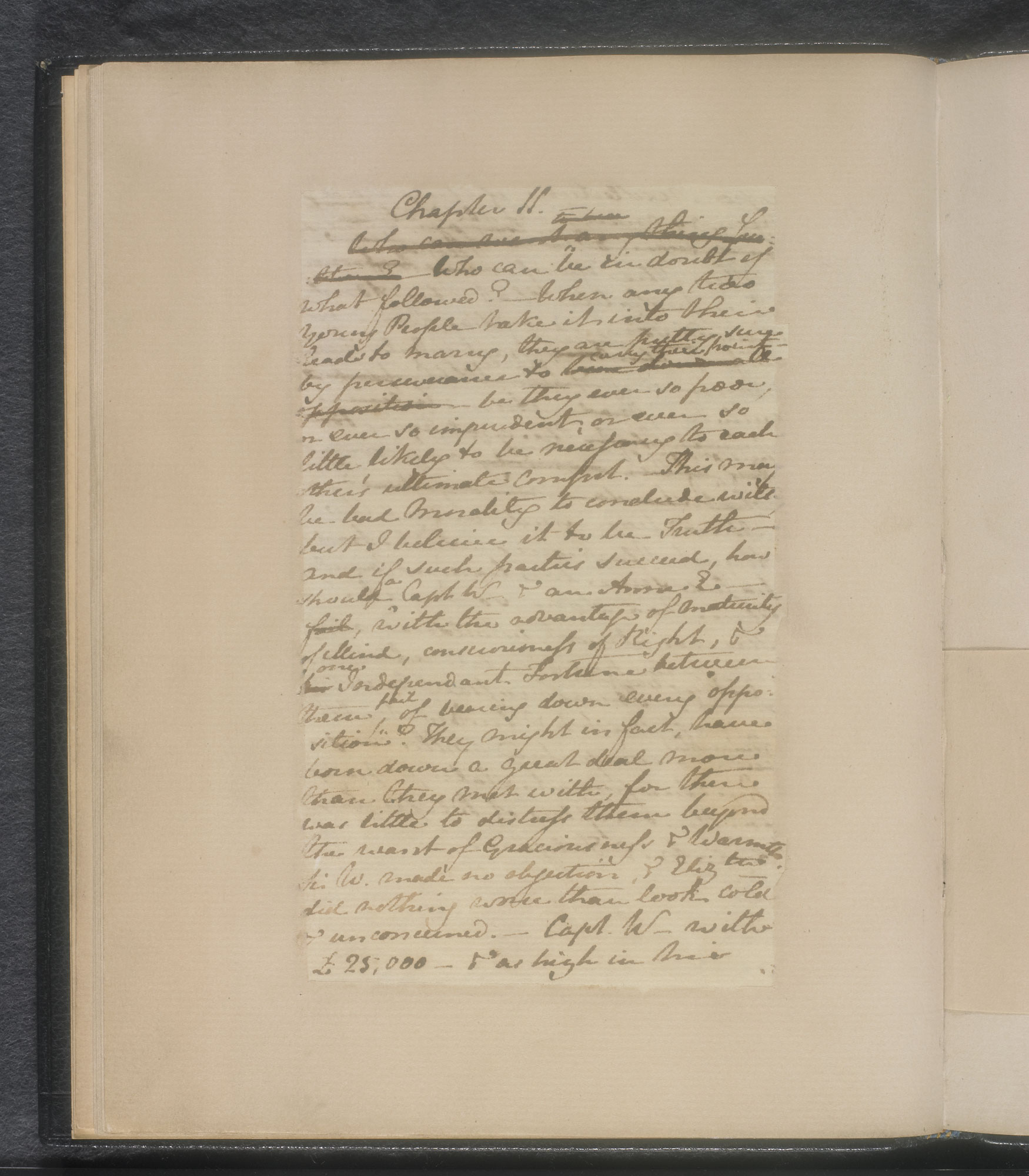 Manuscript of chapters 10 and 11 from Jane Austen's Persuasion [folio: f. 9v]