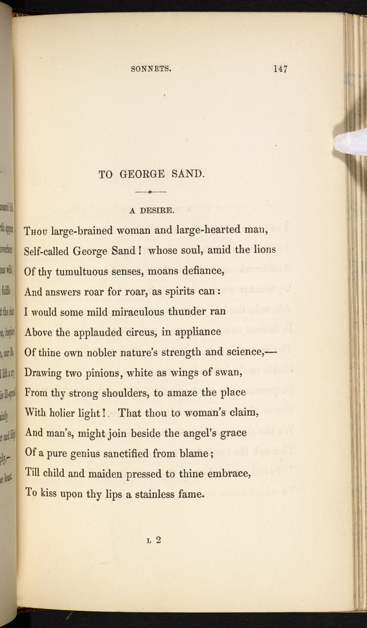 Elizabeth Barrett Browning's Poems, in Two Volumes, 1844 [page: vol. I p. 147]