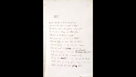 Manuscript of Elizabeth Barrett Browning's Sonnets to the Portuguese [folio: 49r]