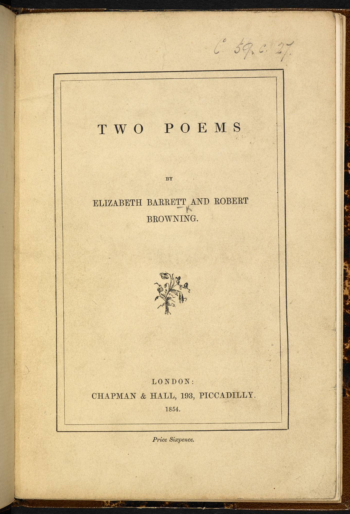 A Plea for the Ragged Schools of London' by Elizabeth Barrett Browning [page: title page]