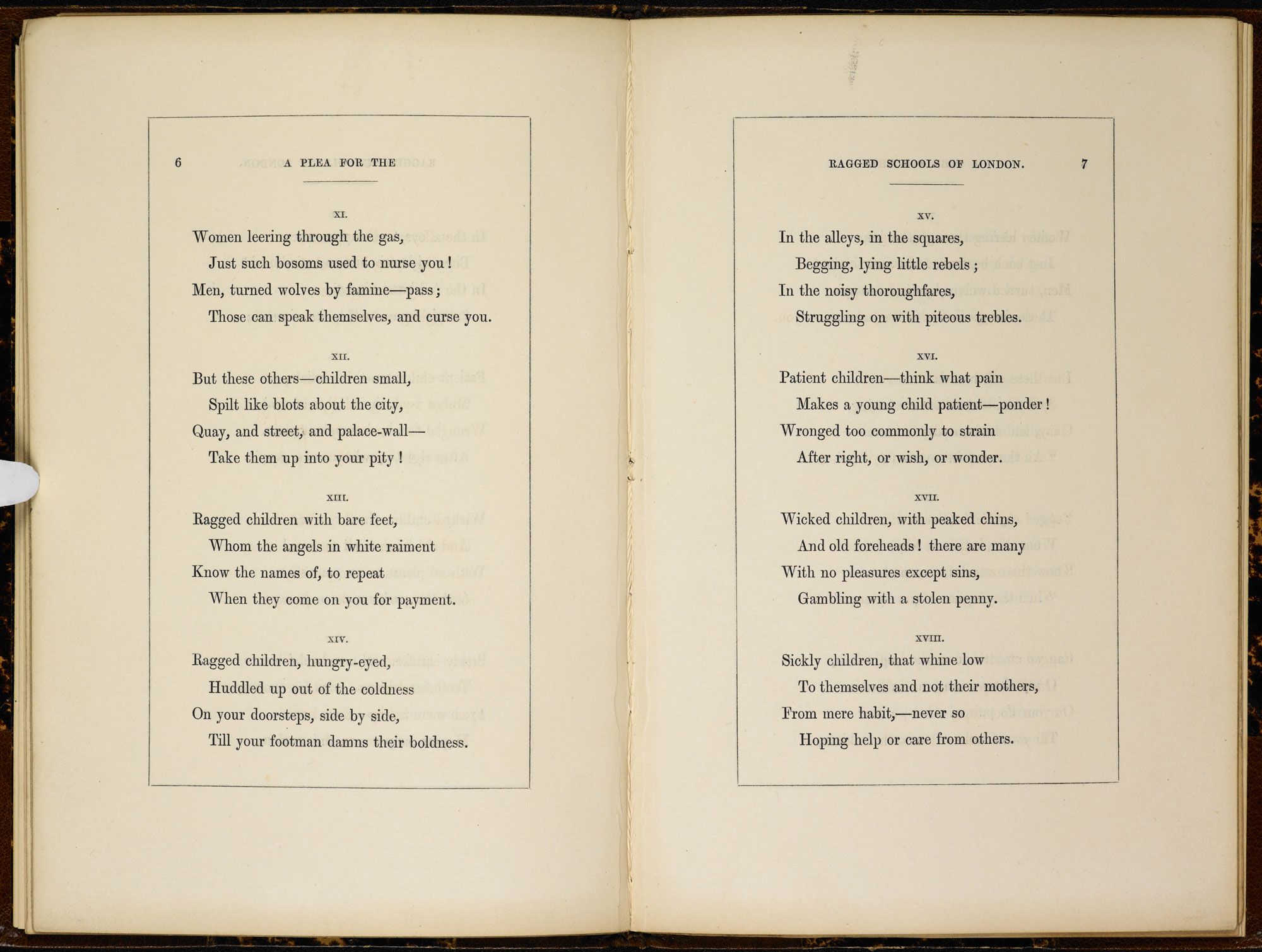A Plea for the Ragged Schools of London' by Elizabeth Barrett Browning [page: 6-7]