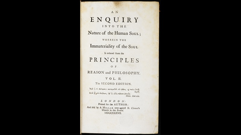 An enquiry into the nature of the human soul [page: vol. 2 title page]