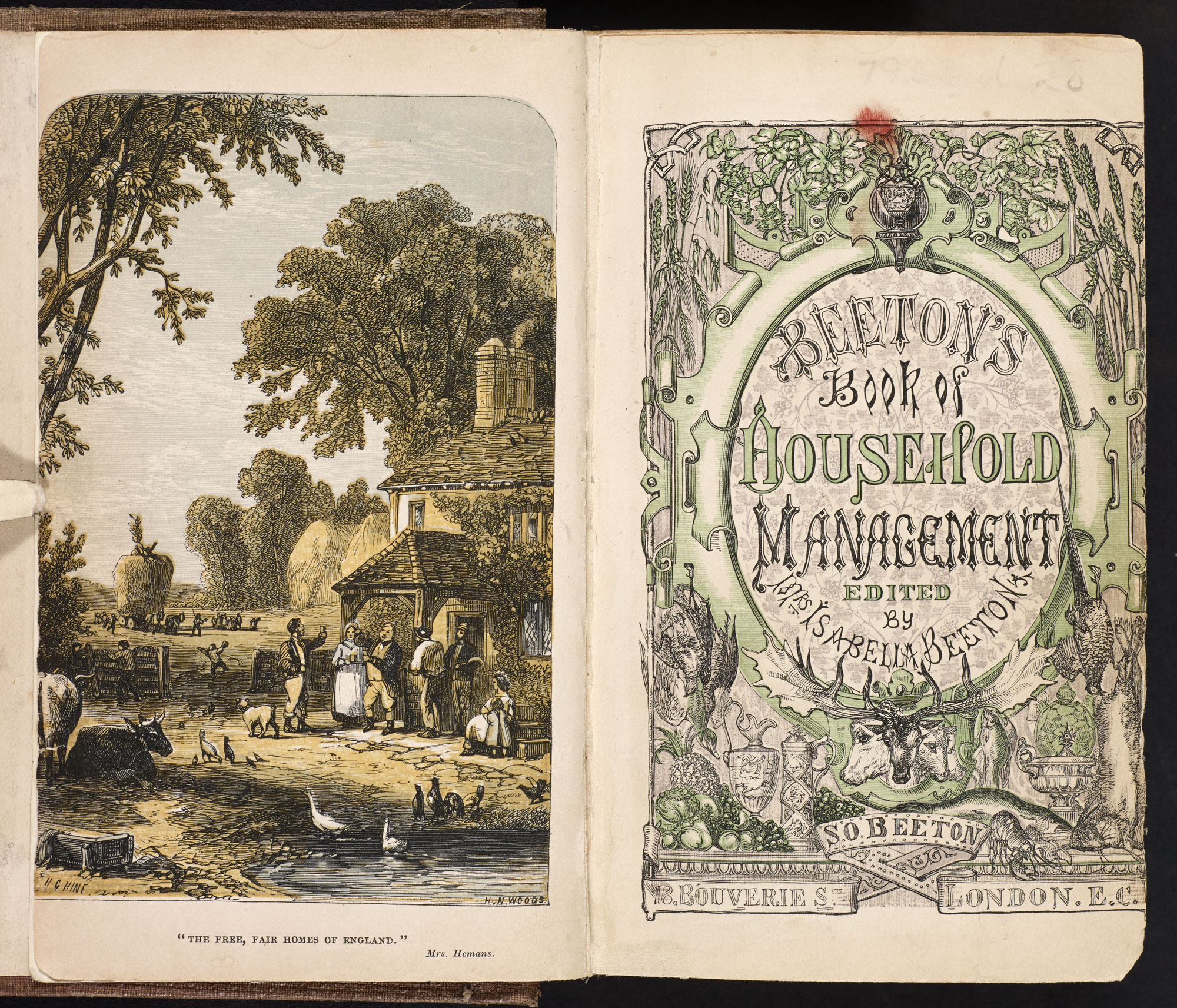Beeton's Book of Household Management [page: frontispiece and title page]