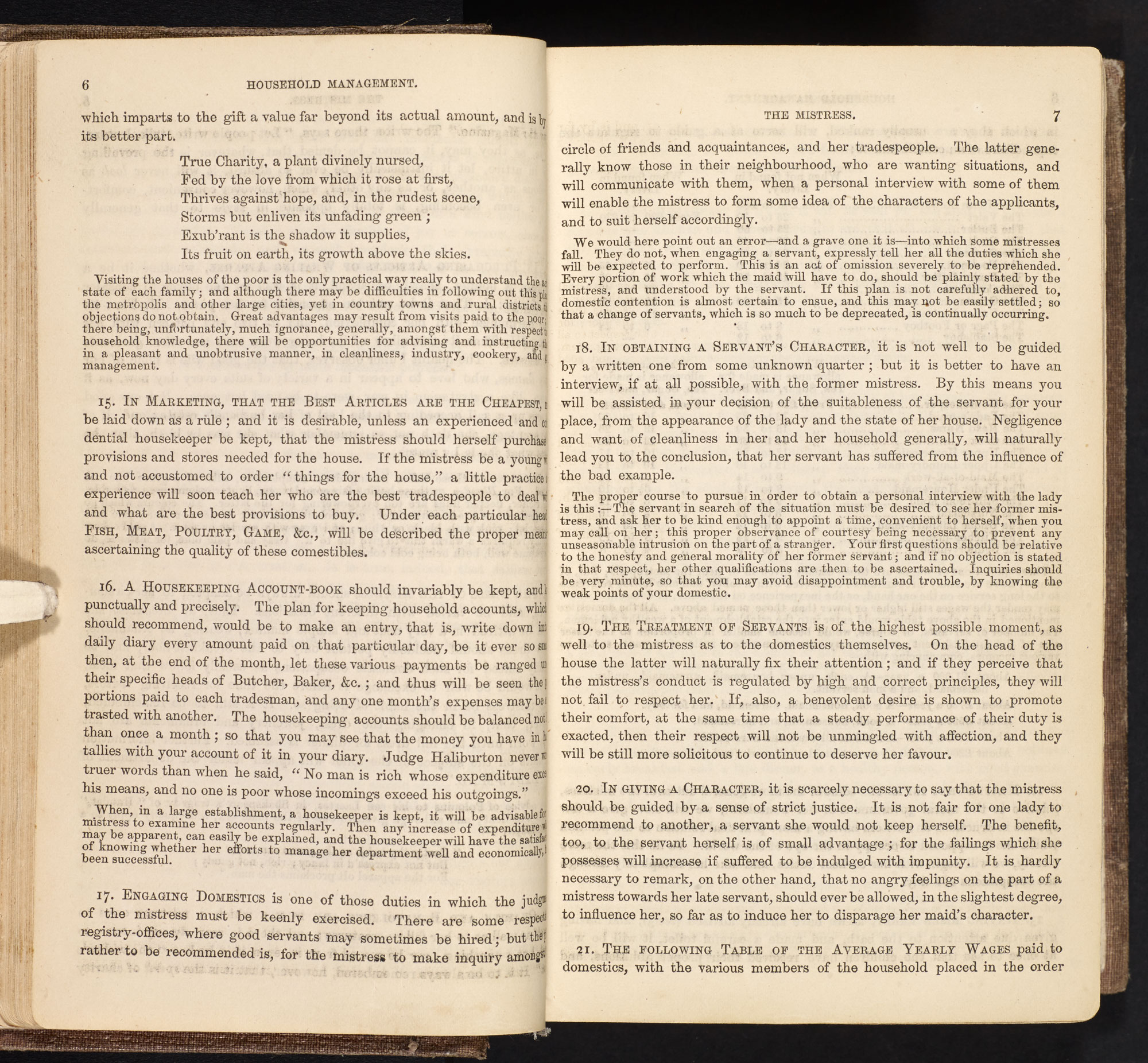 Beeton's Book of Household Management [page: 6-7]