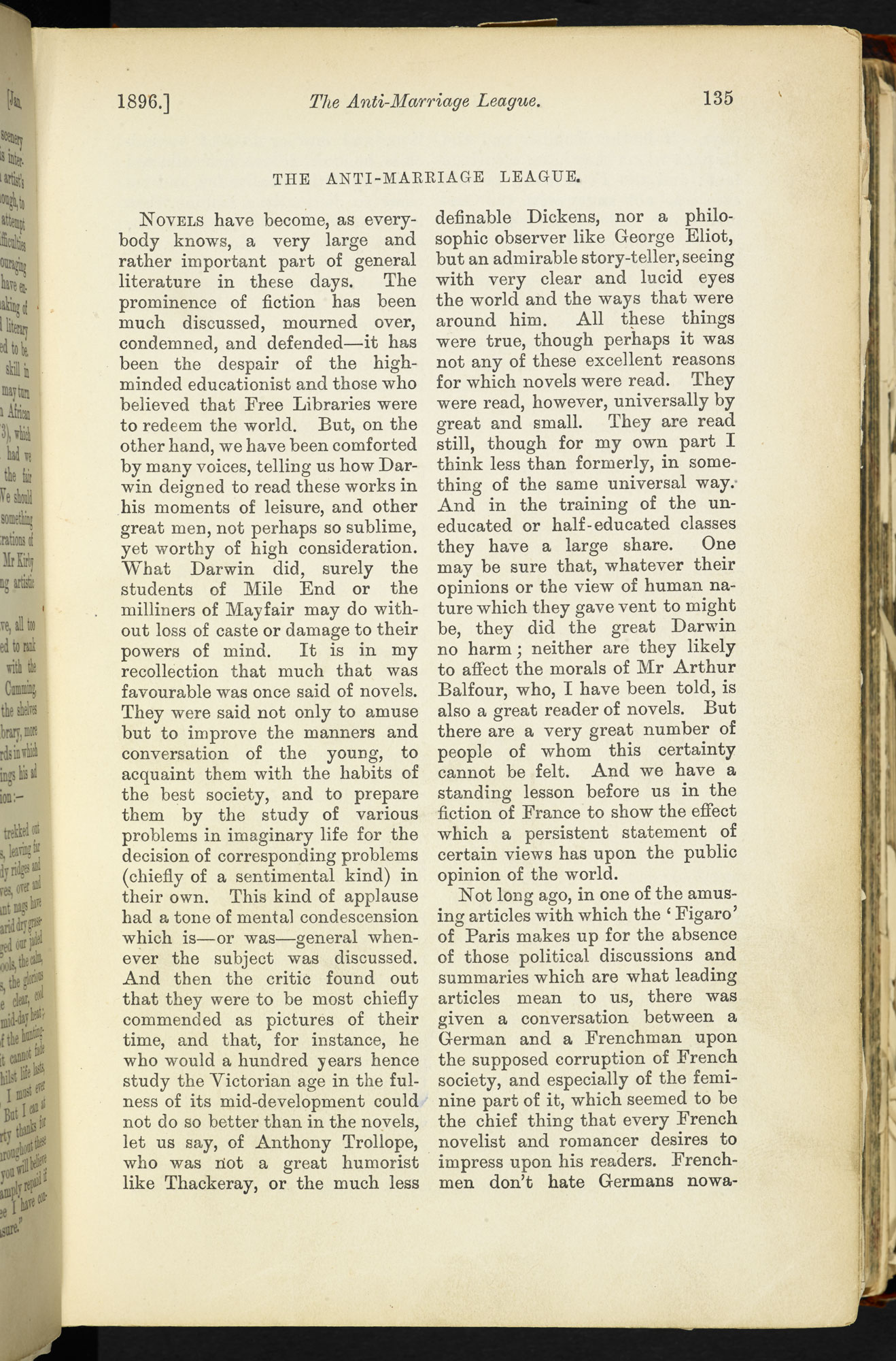 The Anti-Marriage League' from Blackwood's Edinburgh Magazine [page: 135]