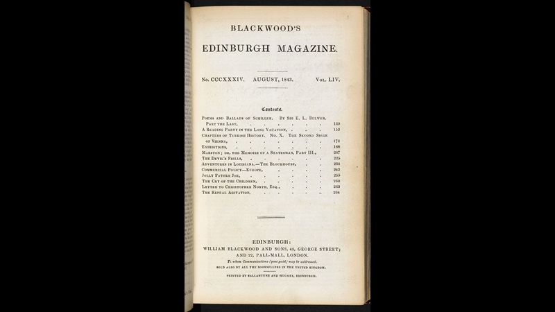 Elizabeth Barrett Browning's 'The Cry of the Children' as first published in Blackwood's Edinburgh Magazine [page: facing p. 138]