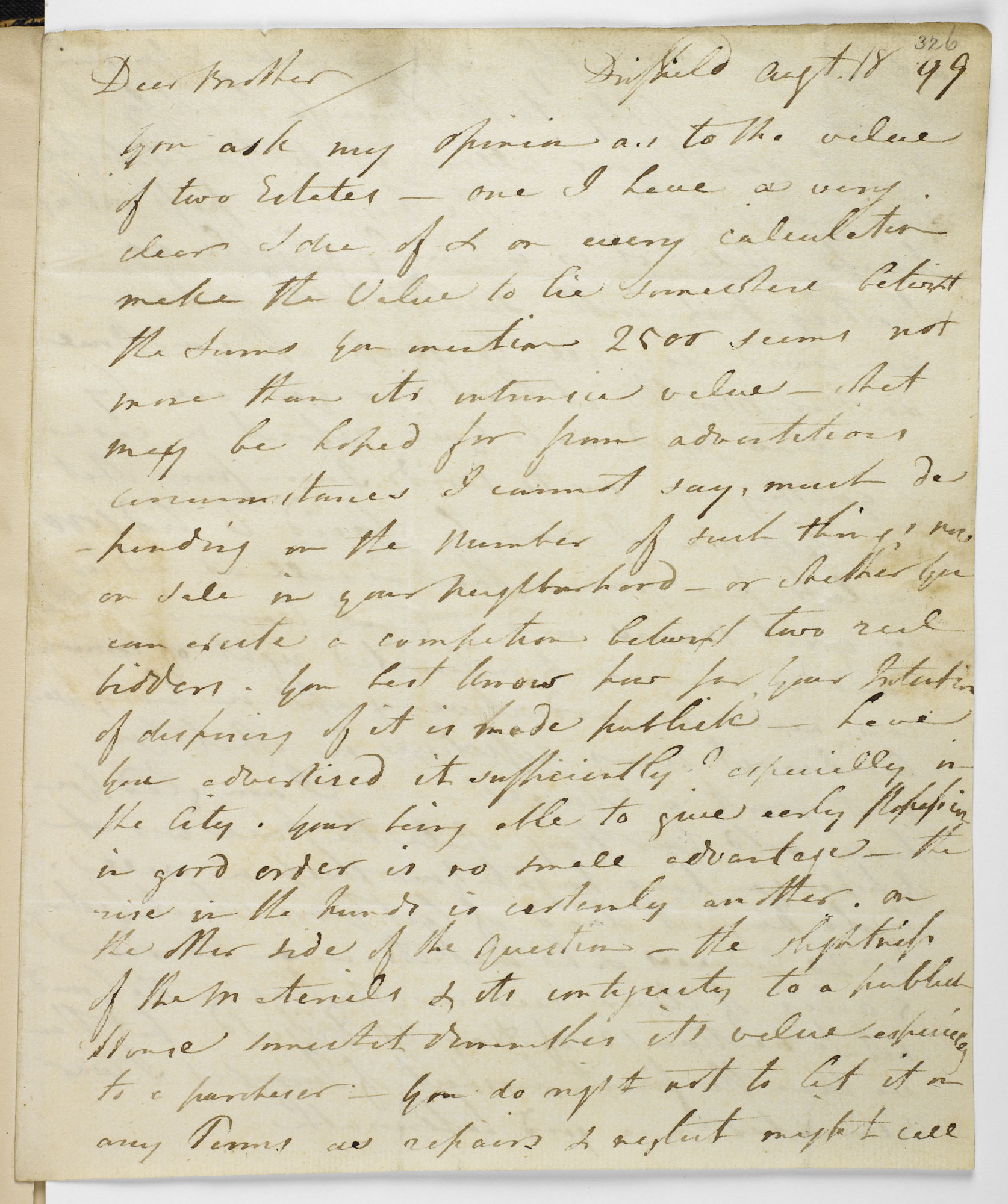 Letter from William Blake to Dr Trusler, 18 August 1799 [folio: 326r]