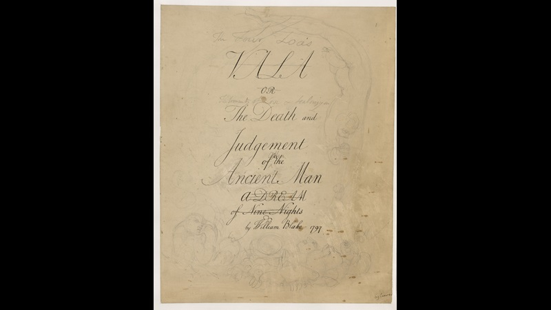 Manuscript of William Blake's The Four Zoas [folio: 1r]