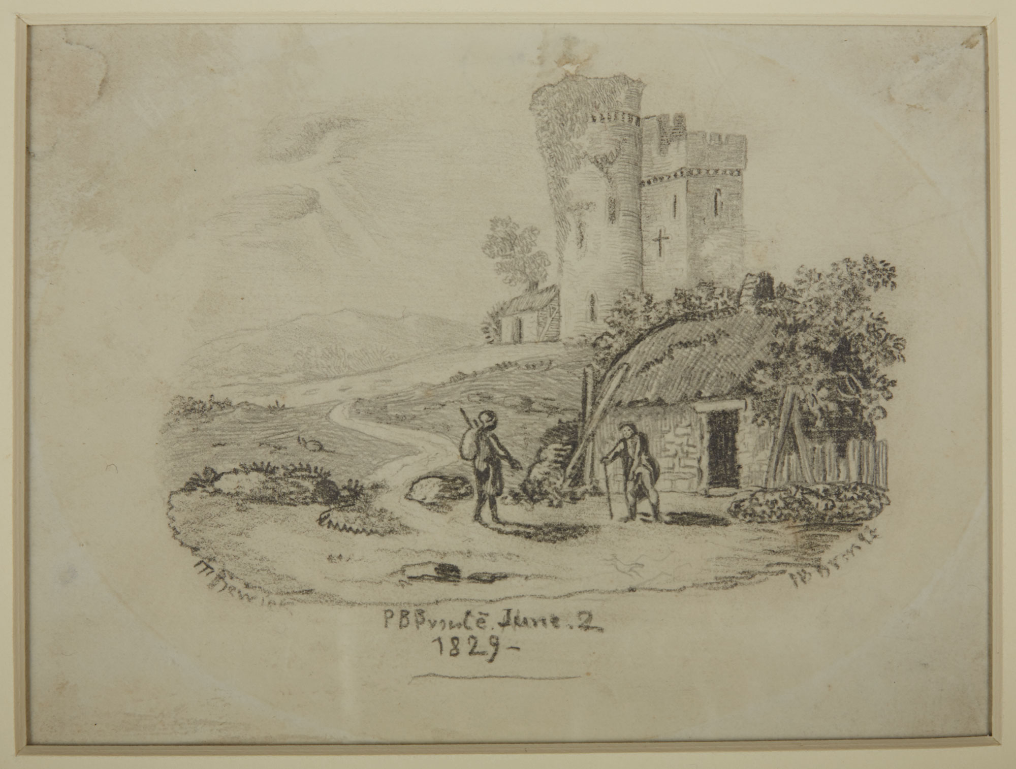 Rural scene by Branwell Bronte [folio: 0]