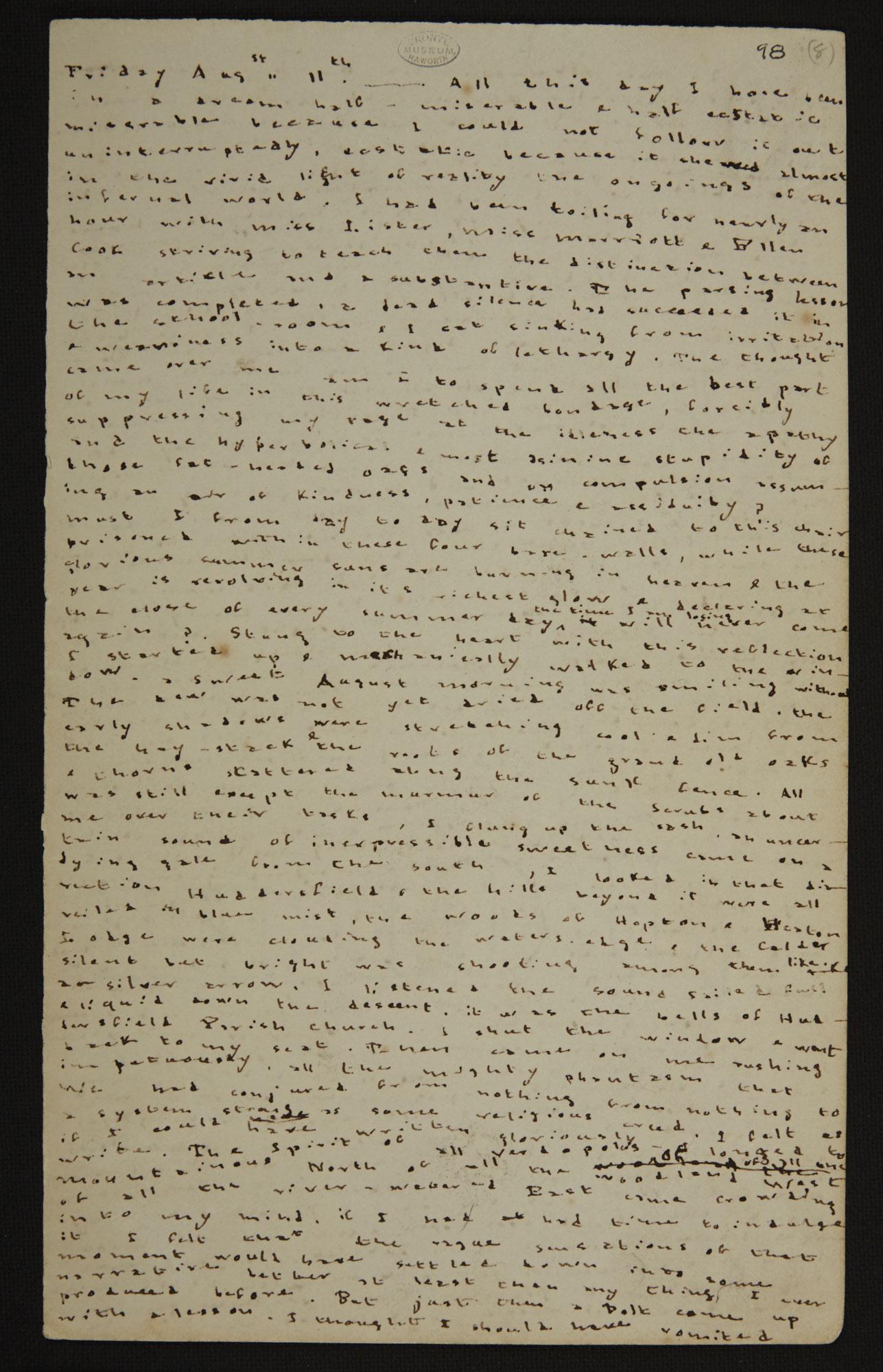 Charlotte Bronte's Journal [folio: 0]