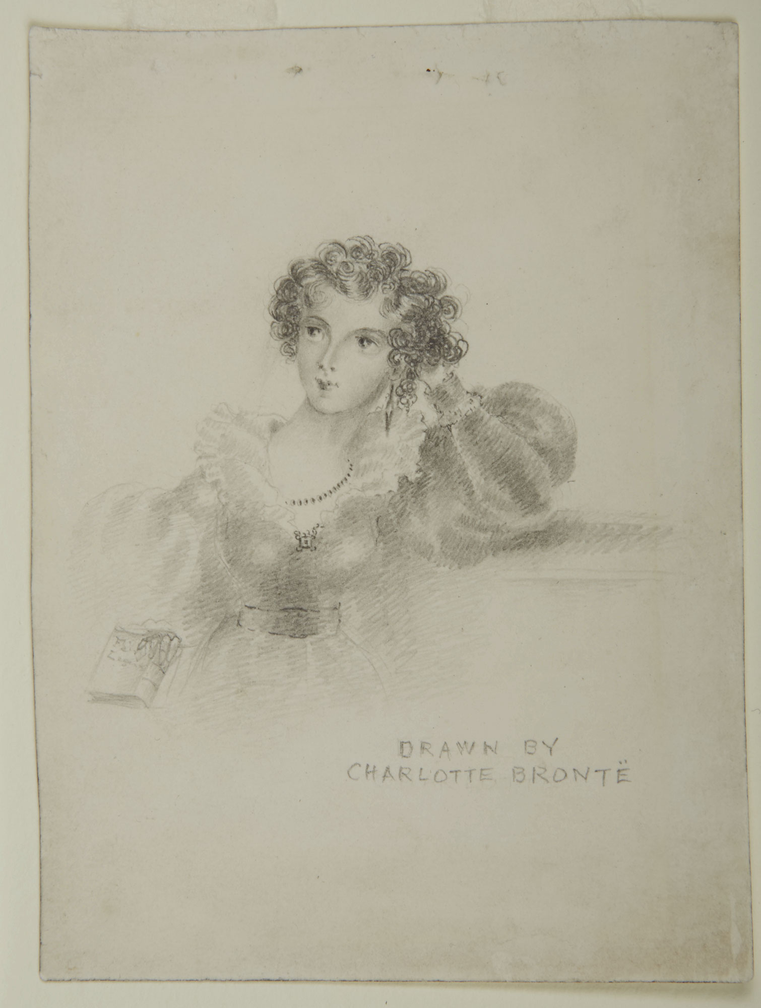 Drawing of a young woman by Charlotte Bronte [folio: 0]
